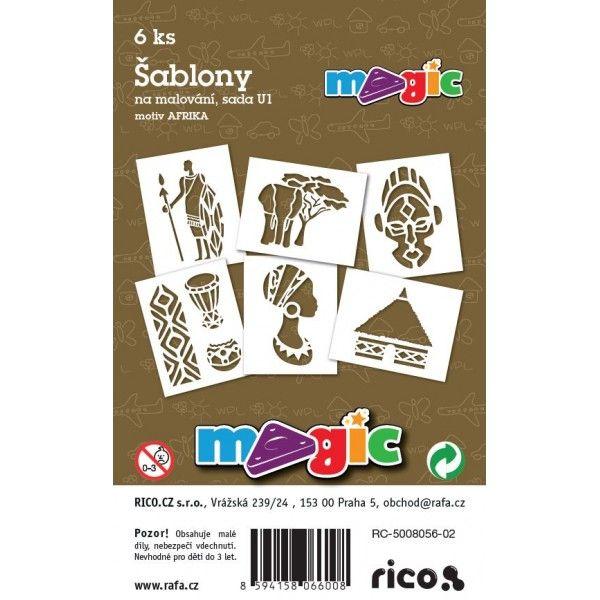 Papírové šablony MAGIC - výřez sada U1- AFRIKA