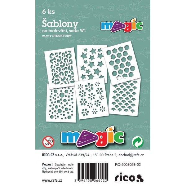 Papírové šablony MAGIC - výřez sada W1- STRUKTURY