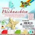 Papíry na skládání Origami - motiv Vánoce 50 listů 10x10 cm
