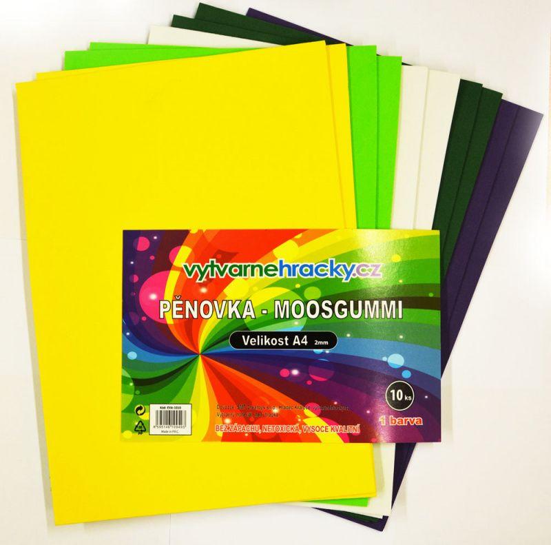 Pěnovka moosgummi - A4- sada 10listů mix barev velikonoční SMTCreatoys