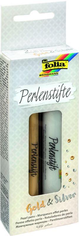 Pero s efektem perel - 2 ks - zlatá/stříbrná Folia