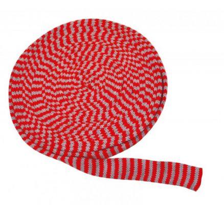 Pletený tubus 10m x 4cm červeno-šedý ostatní