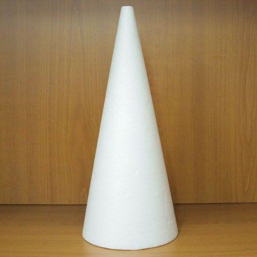 Polystyrenový kužel 27cm k aranžování