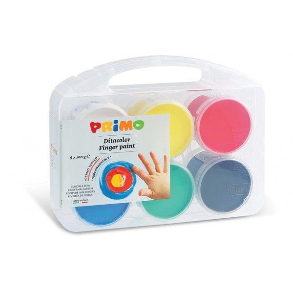 Prstové barvy Primo sada 6x100g