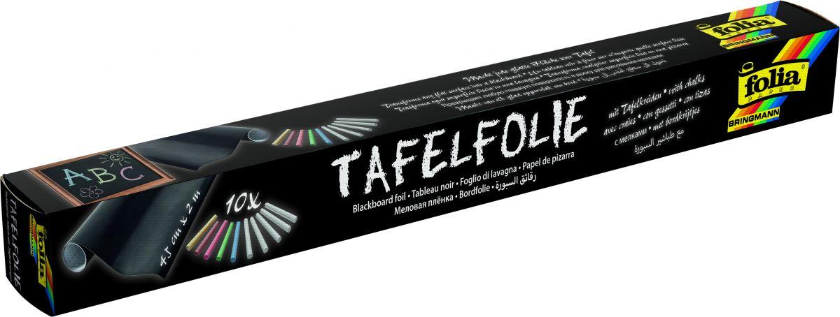 Samolepící folie na tabule 45x200cm - 1 role + 10 kříd Folia