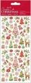 Samolepky třpytivé 10x23cm - Vánoční motivy č.2