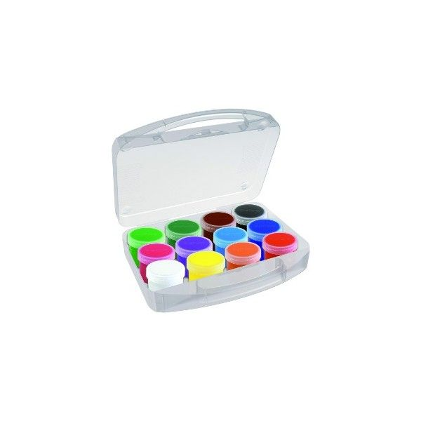 Temperové barvy PRIMO, dárková sada 12 x 44 ml, PP box