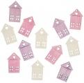 Výseky dřevěné - domy 4 cm, 12 ks