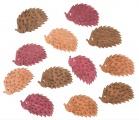 Výseky dřevěné - ježci 4 cm, 3 barvy - 12 ks