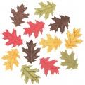 Výseky dřevěné - listy 4 cm, 3 barvy - 12ks II