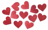 Výseky dřevěné - srdce 3,5 cm - 12 ks
